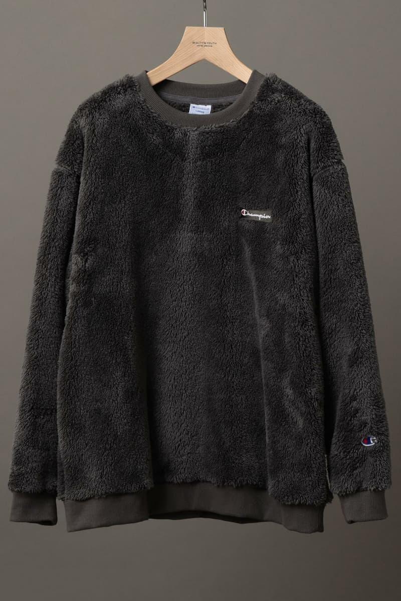 Champion Beauty and Youth Sherpa Fleece Hoodie Japan Parka Crewneck Sweater