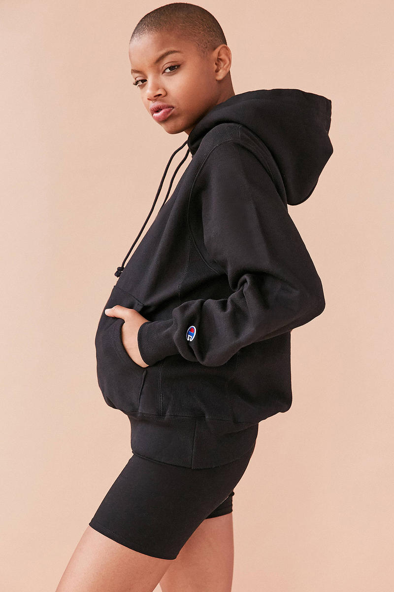 Champion Black Hoodie Urban Outfitters