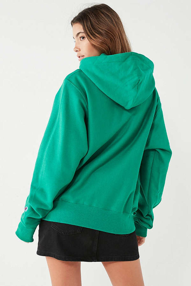 Champion Reverse Weave Hoodie Sweatshirt Green