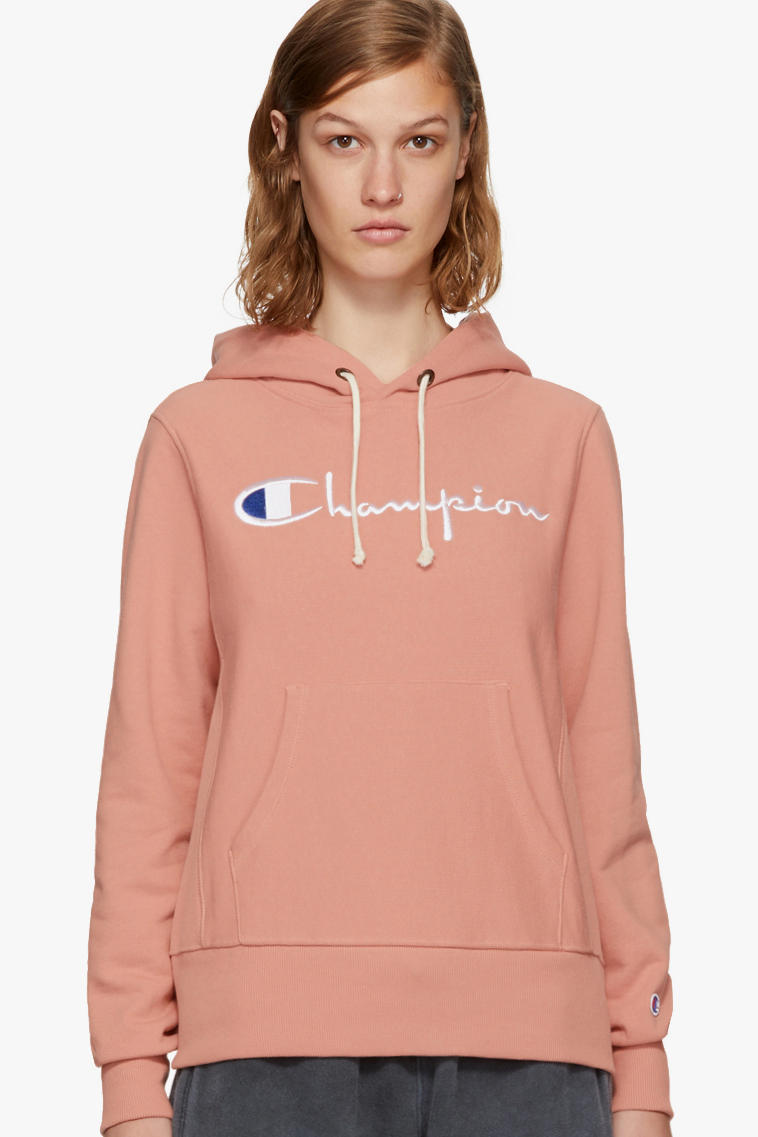 Champion Reverse Weave Hoodie Sweatshirt Crewneck Tee T-shirt Peach Blue Burgundy Green Black Grey SSENSE