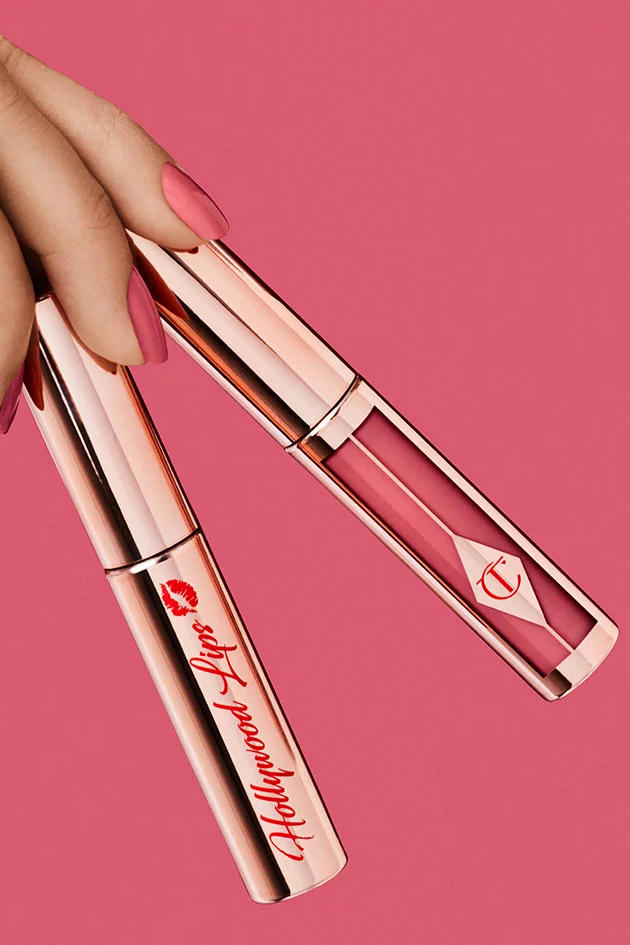 Charlotte Tilbury Hollywood Lips Liquid Lipsticks Collection Rose Gold Pink Red Nude