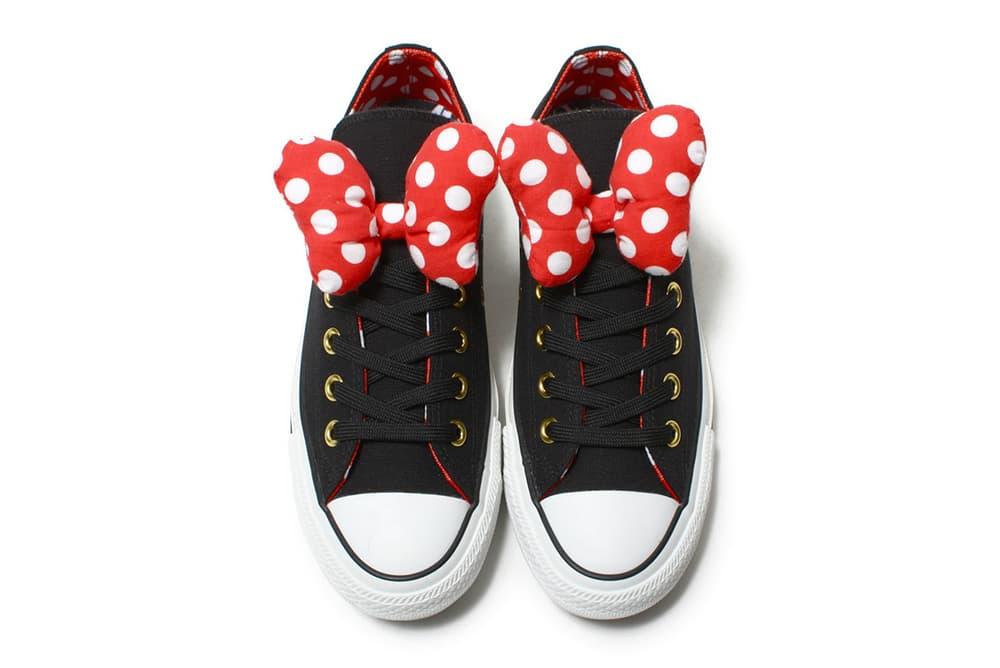 Minnie Mouse Converse Chuck Taylor All Star Disney Polka Dot Bow Red 100 anniversary atmos