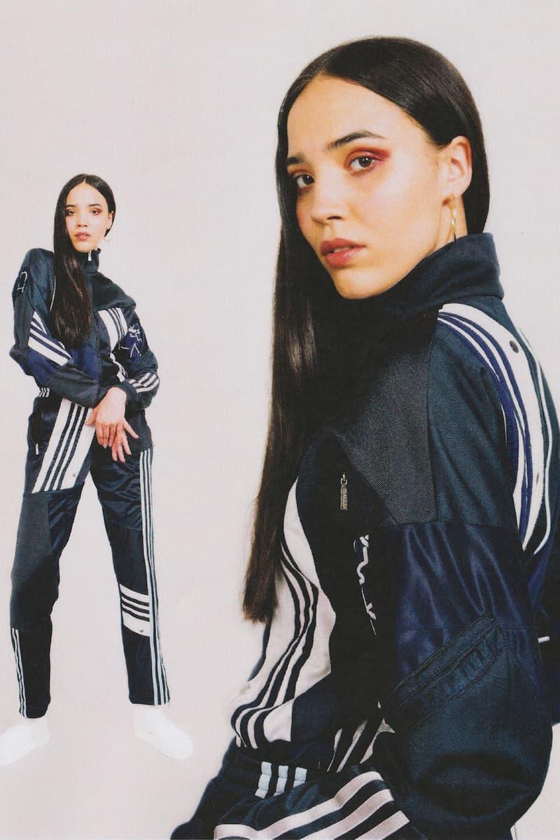 Daniëlle Cathari editorial adidas tracksuit office magazine