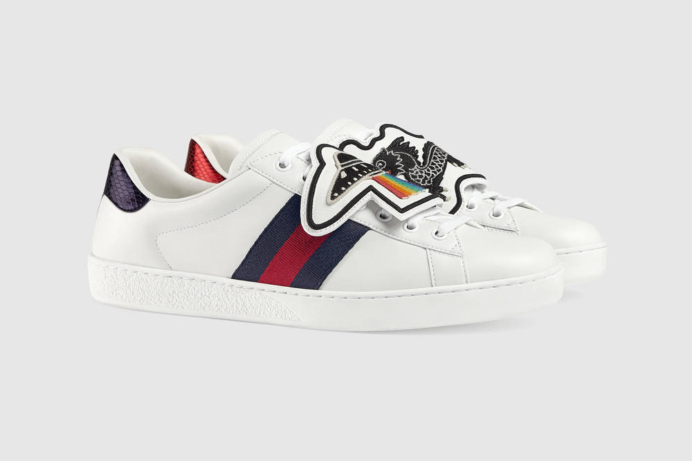 gucci ace sneakers customize personalize ufo dragon