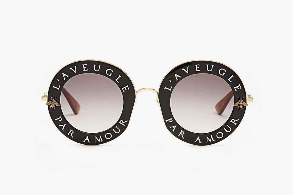 5d1fe4ab2c4 Gucci L Aveugle Par Amour Round Frame Sunglasses