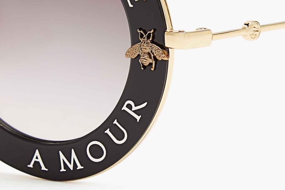 Gucci L'Aveugle Par Amour Round Frame Sunglasses