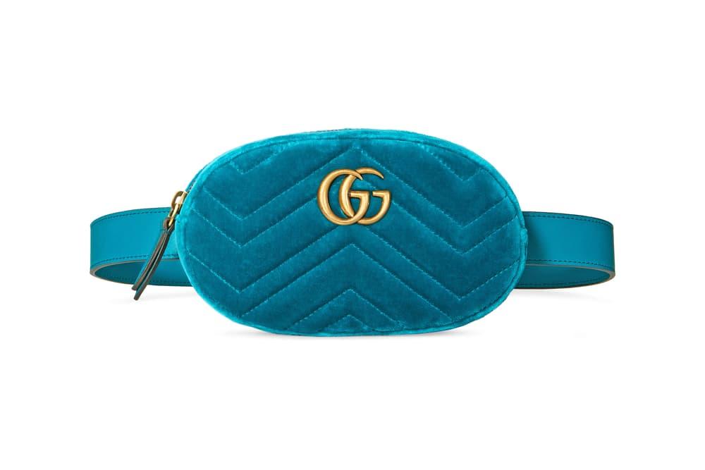 d89a2bdc99c Gucci Marmont Belt Bag Is Covered in Velvet