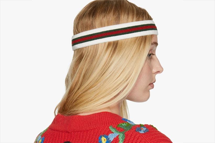 948c93ea579 Shop Gucci s Tricolor Web Headband at SSENSE