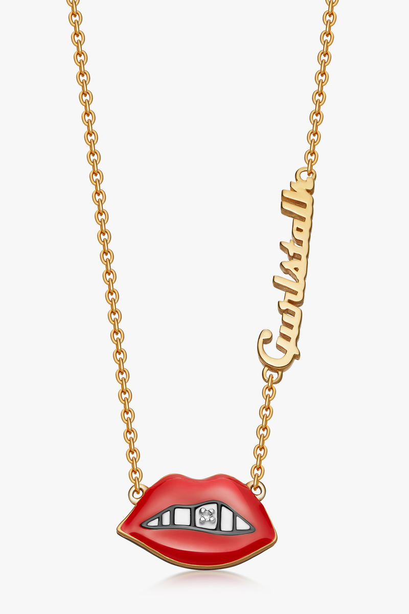 Gurls Talk Adwoa Aboah Astley Clarke lip necklace