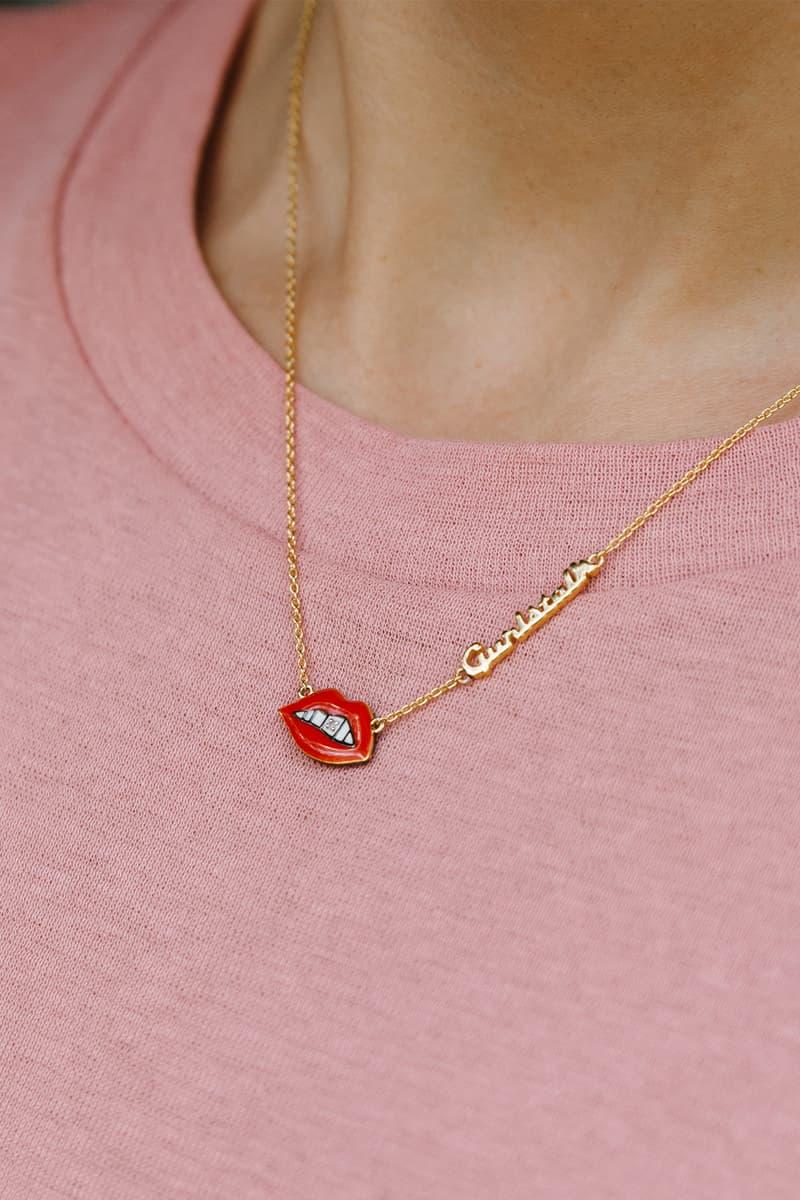 Gurls Talk Adwoa Aboah Astley Clarke lip necklace