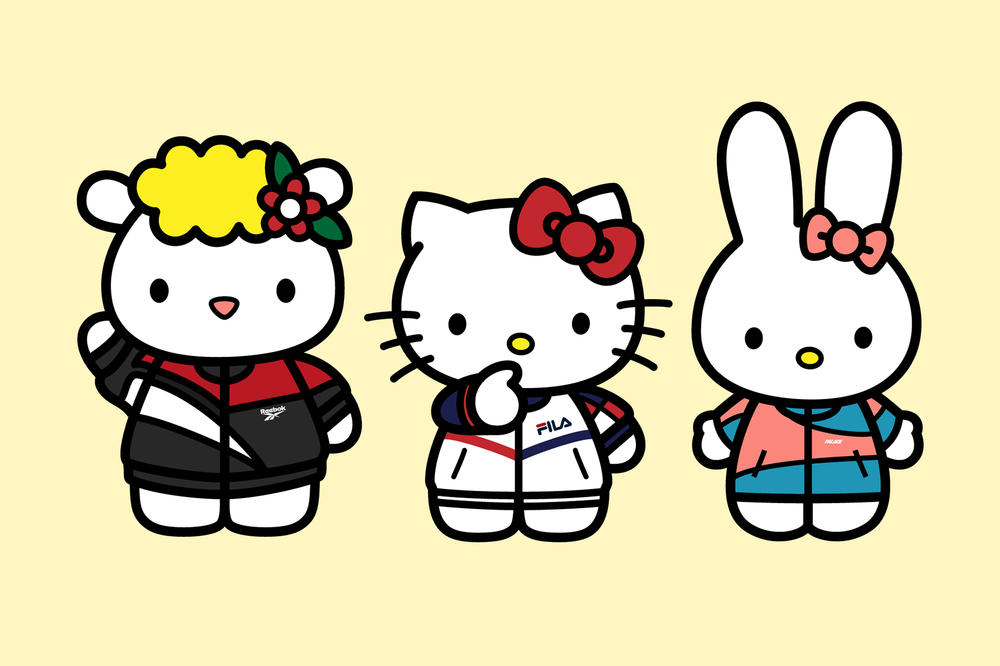 Hello Kitty Streetwear Illustration Supreme Louis Vuitton Champion Nike adidas FILA Reebok Palace Skateboard Sanrio Thrasher Kappa Esther Park
