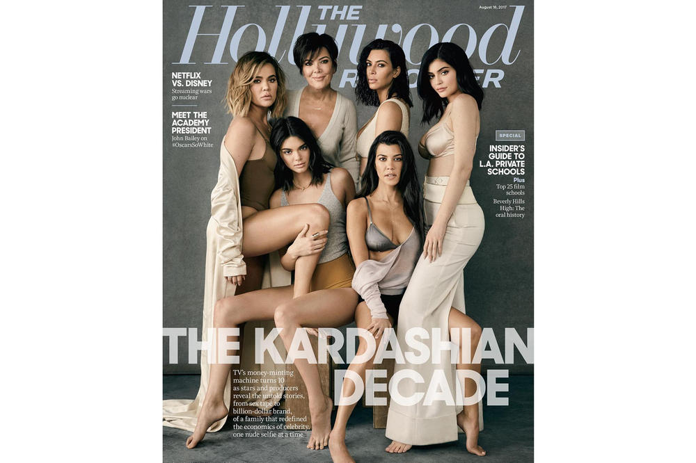 Kardashians Jenners The Hollywood Reporter 2017 August Cover