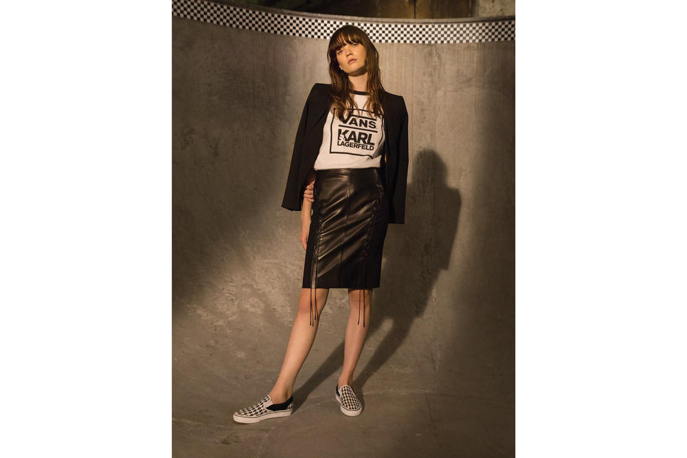Karl Lagerfeld x Vans Collaboration Slip-On Apparel