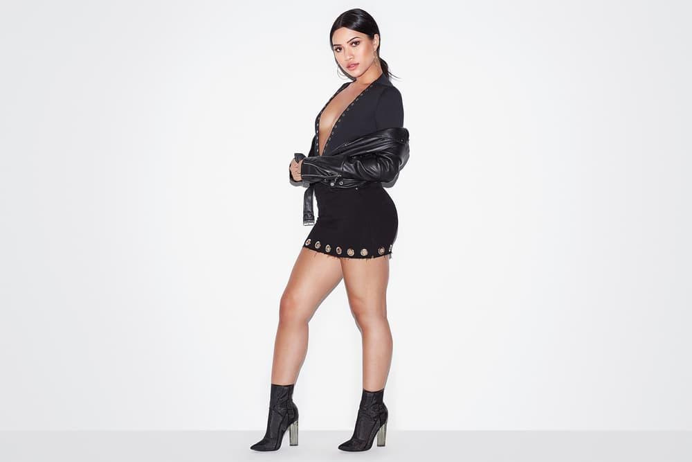 Khloe Kardashian Good American Grommet Jeans Denim Skirt Season 4