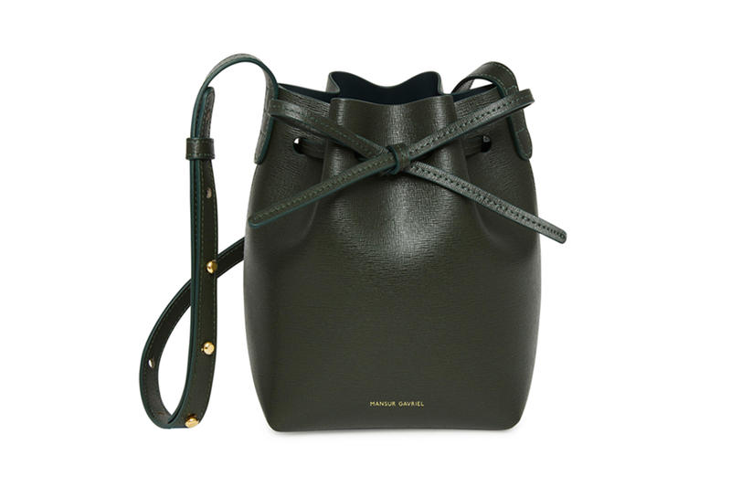 Mansur Gavriel Bucket Bag New Saffiano Colors Blush Teal Moss Flamma lady backpack tote