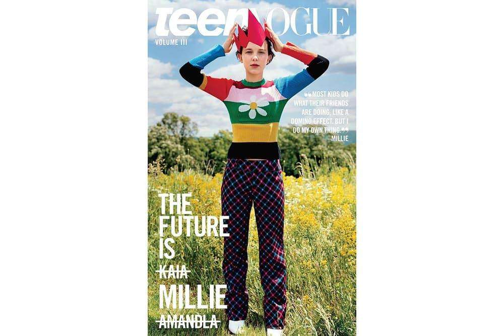 Millie Bobby Brown Teen Vogue 2017 September Issue Cover Stranger Things