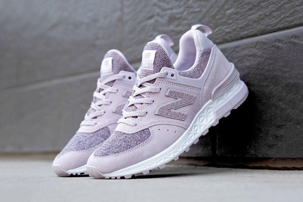 New Balance 574 Sport Suede Thistle