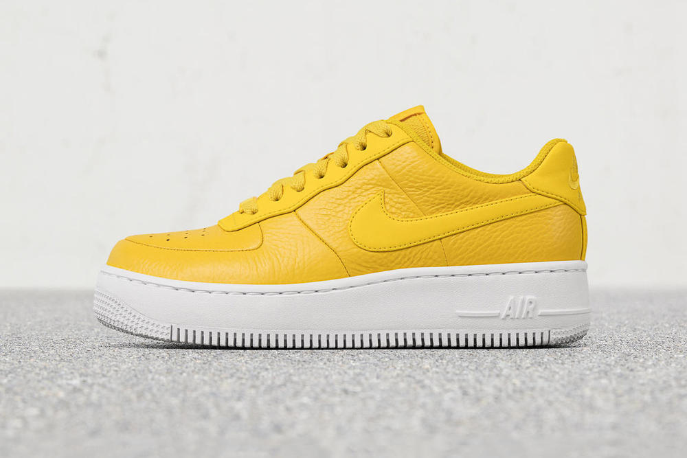 Nike Air Force 1 Upstep Premium Low Bread & Butter Yellow