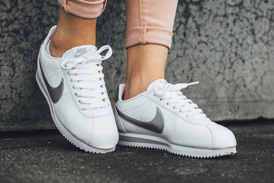 pretty nice 1a62e 9c73a Nike Classic Cortez Leather in Metallic Silver | HYPEBAE