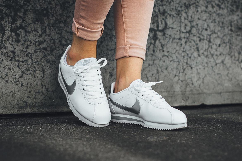 pretty nice 27c8e 2ce7a Nike Classic Cortez Leather in Metallic Silver | HYPEBAE