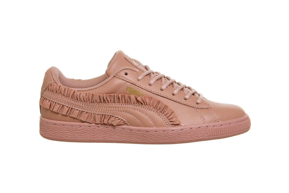 PUMA Basket Classic Frill Rose Gold Pink Cameo Brown White