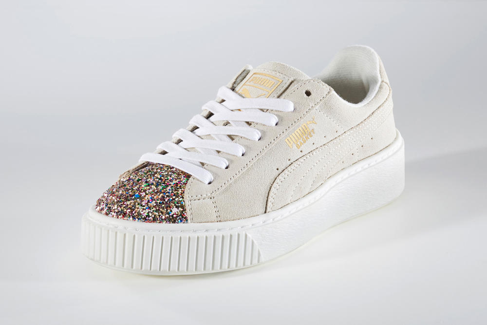 The New PUMA Suede Platform Features Glitter on the Toe Cap. Meet the  Crushed Jewel pack. 7429af70c