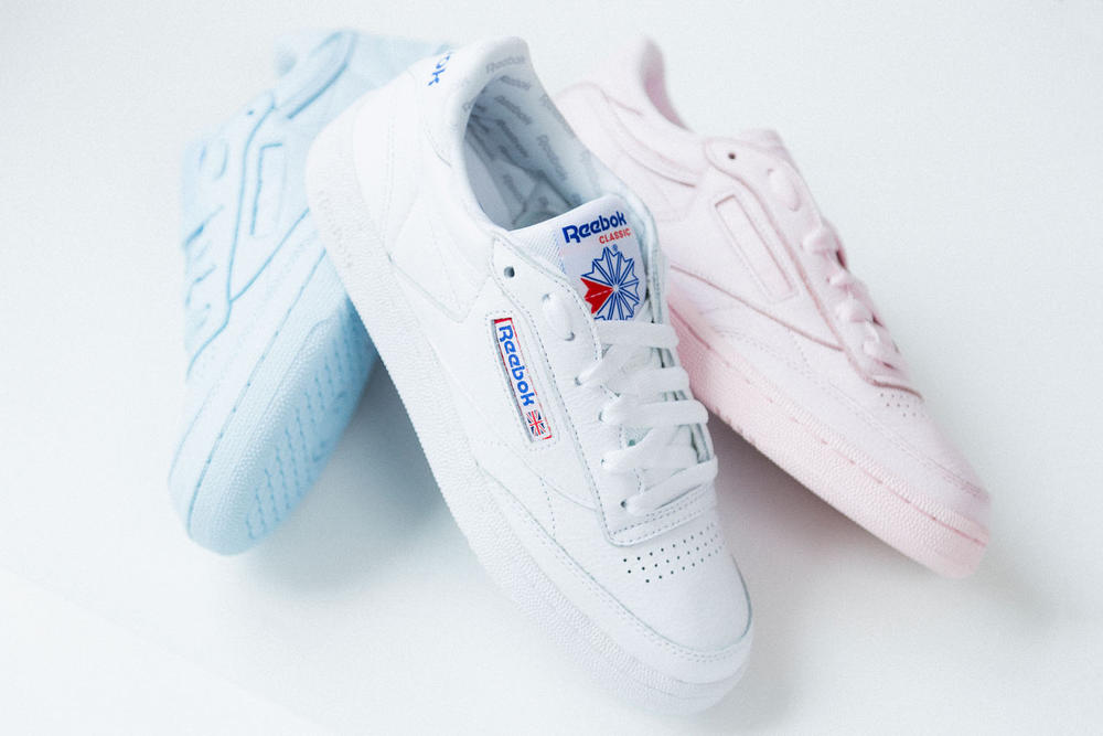 8206bbdf29370 Reebok Club C 85 Closer Look Elm Pack Pastel Pink Blue White