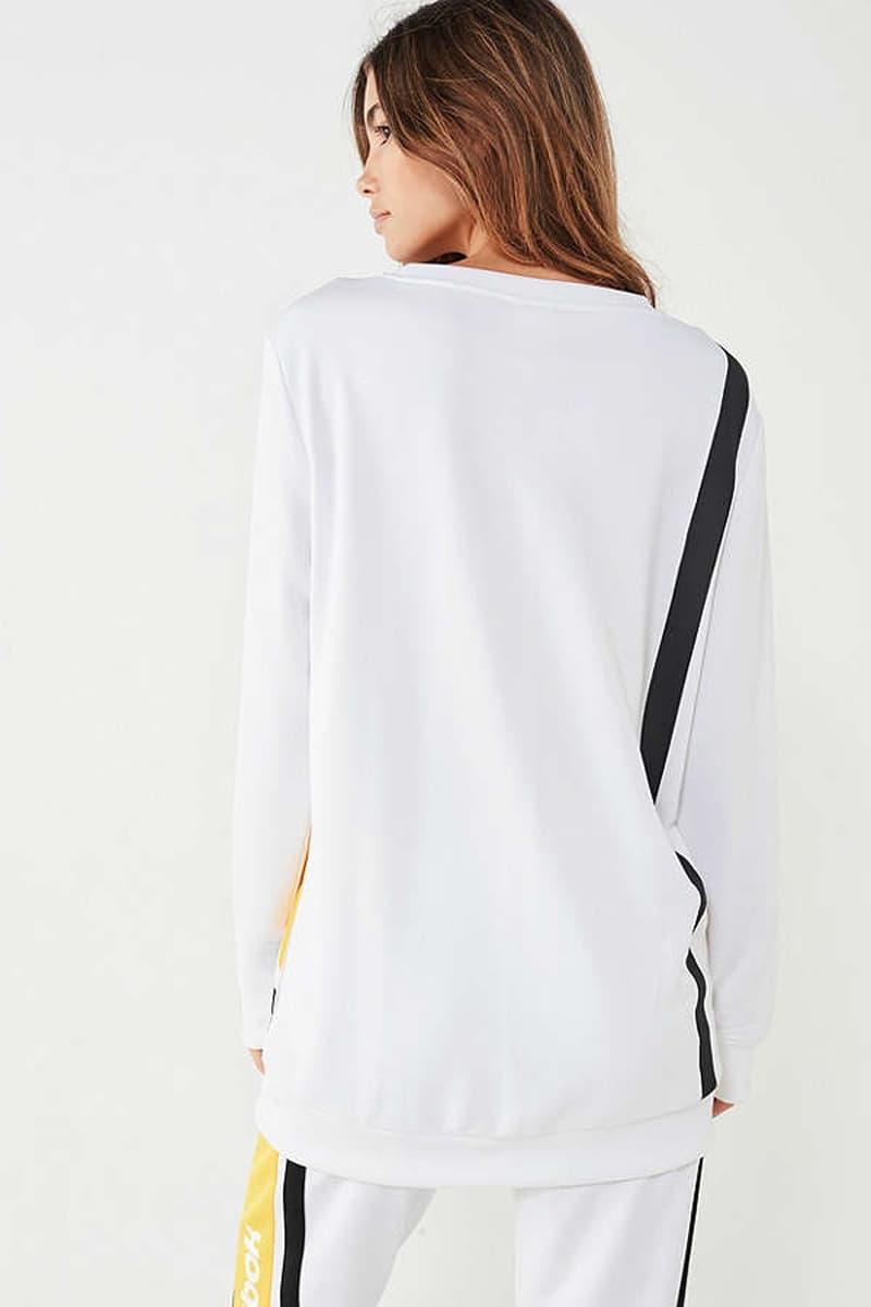 Reebook Crewneck Pullover Sweatshirt Sweatpants White