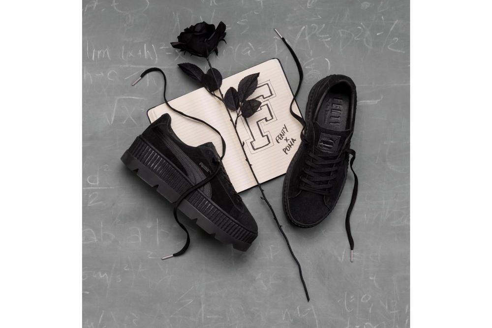 reputable site 9d066 017f4 Rihanna Fenty PUMA Cleated Creeper Black. 1 of 2