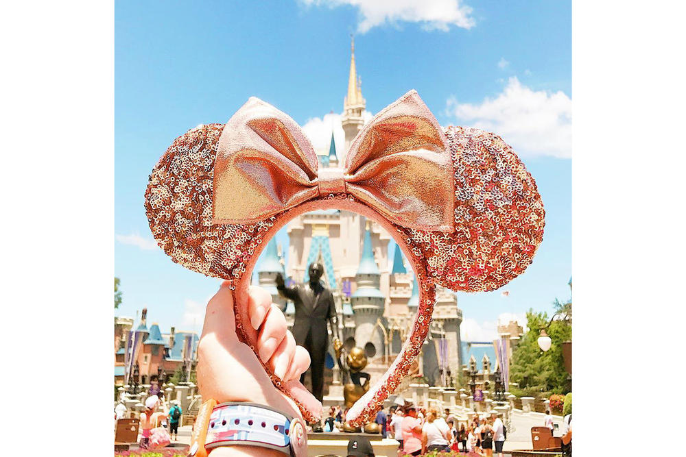 Rose Gold Minnie Mouse Ears Disney