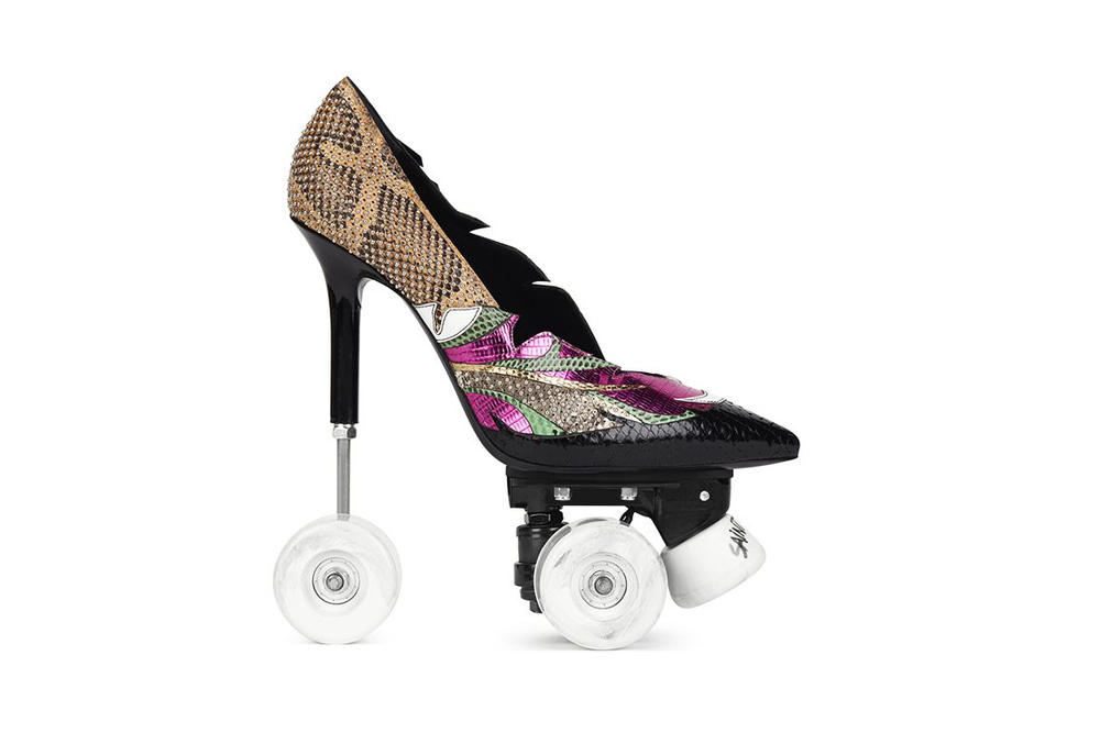 Saint Laurent Stiletto Roller Skates Heels