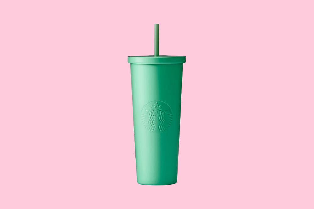 Starbucks Seafoam Green Stainless Steel Cold Cup