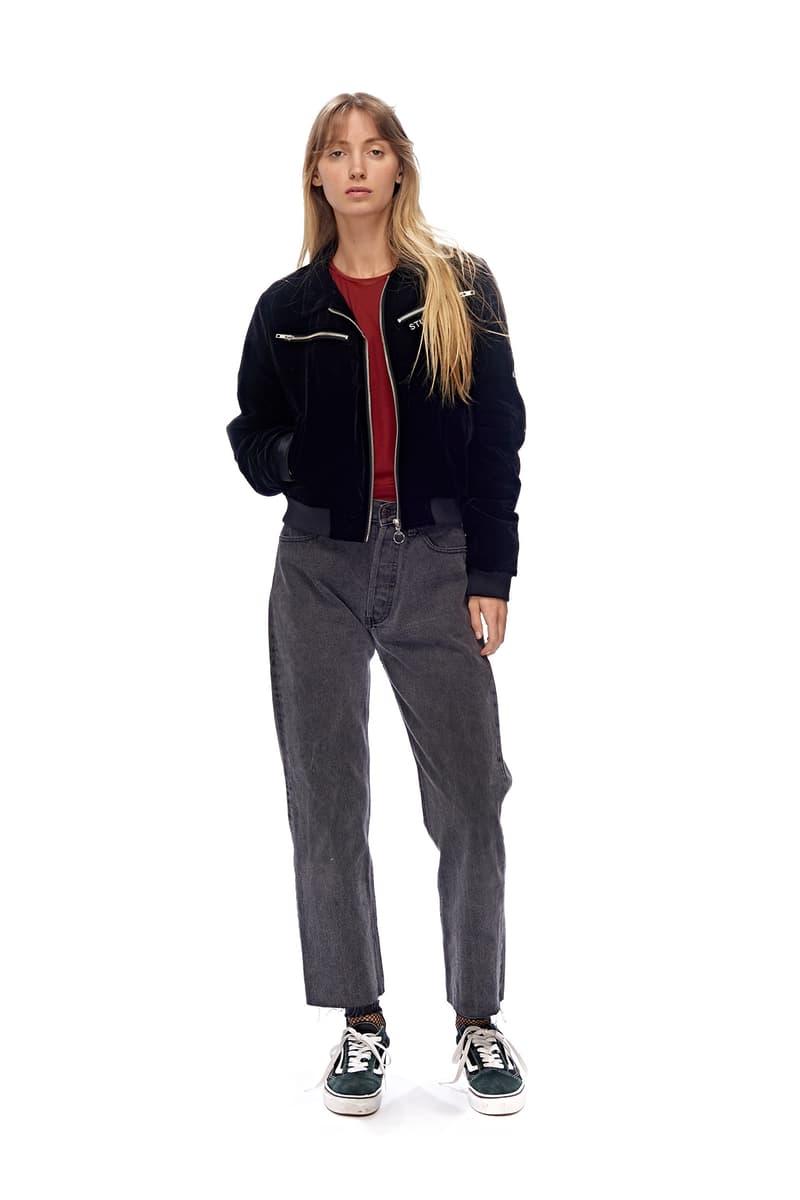 stussy women millennial pink puffer jacket 90s tracksuit
