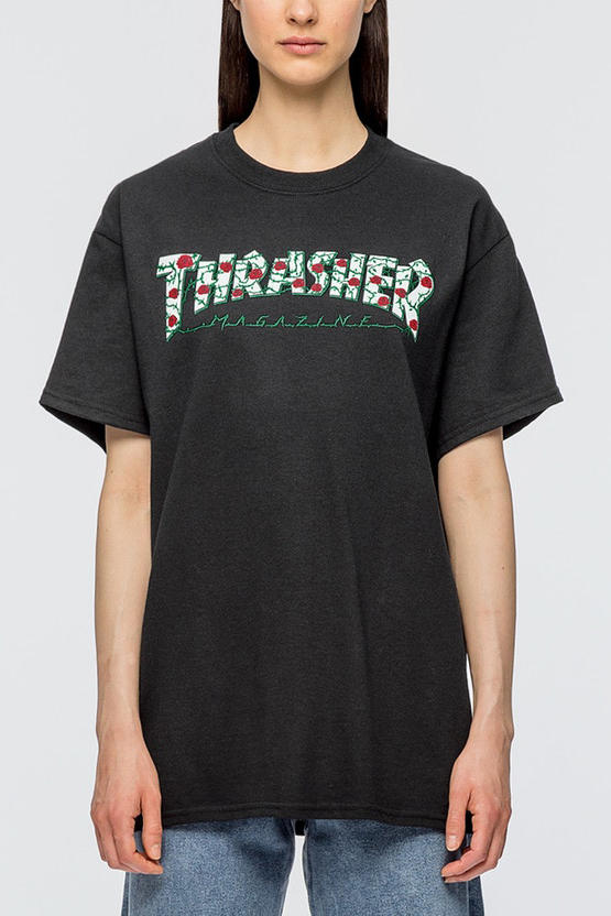 Thrasher Rose 2017 Fall Winter Hoodie T-shirt Pink White Black Skateboard hbx