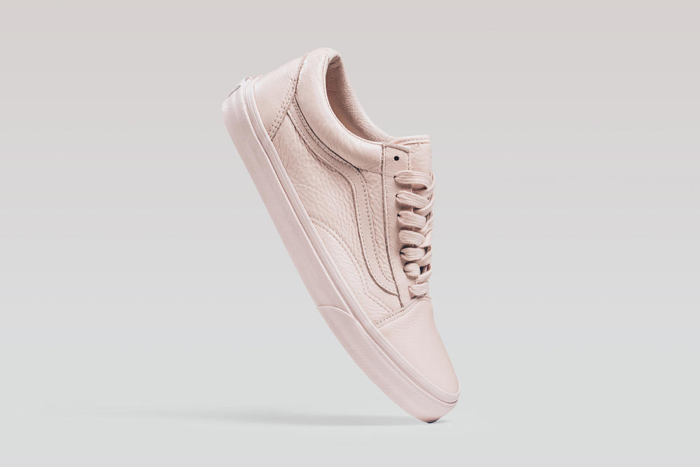 3b6fa2a52d643b Vans Old Skool Mono Leather Pack Sepia Rose Ice Blue Pastel Pink