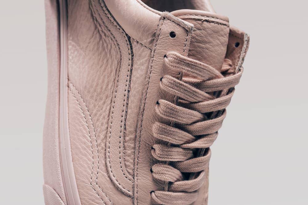Vans Old Skool Mono Leather Pack Sepia Rose Ice Blue Pastel Pink