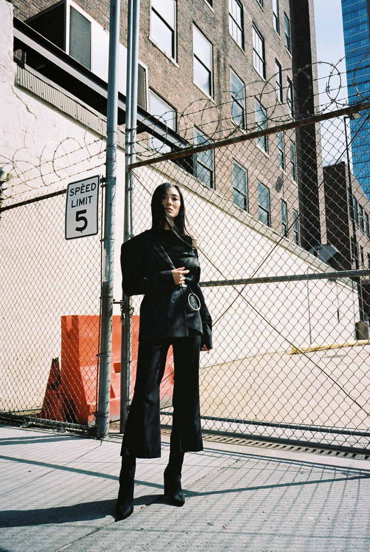 10:50 Studios Lookbook New York Emerging Designer Brand Parsons New Tailoring Edgy Fashion Style