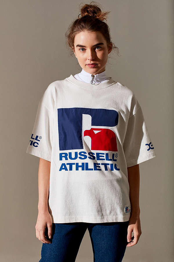 Russel Athletic X-Girl Logo T-Shirt Classic Retro Vintage Sporty Athletic Urban Outfitters Fashion Clothes Print