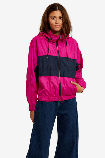 Kenzo Opening Ceremony Pink Pastel Fuschia Magenta Jacket Windbreaker Color Blocking Logo Fall