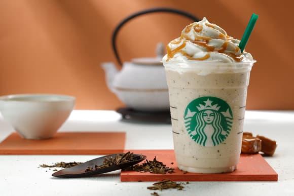 Starbucks Frappuccino Pumpkin Spice Latte PSL Coffee Japan Green Tea Hojicha Grape Jelly Drink Food