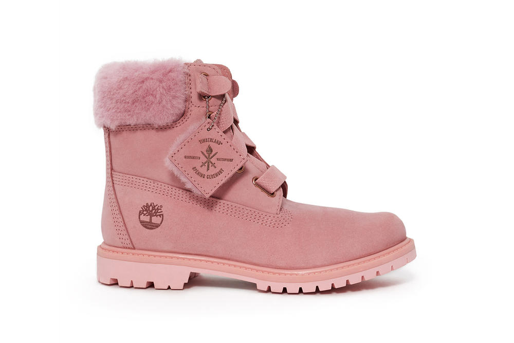 Timberland Timberlands Opening Ceremony Boots Pink White Black Wheat Brown  Fall Winter Shoes Footwear Collab ae392ed574
