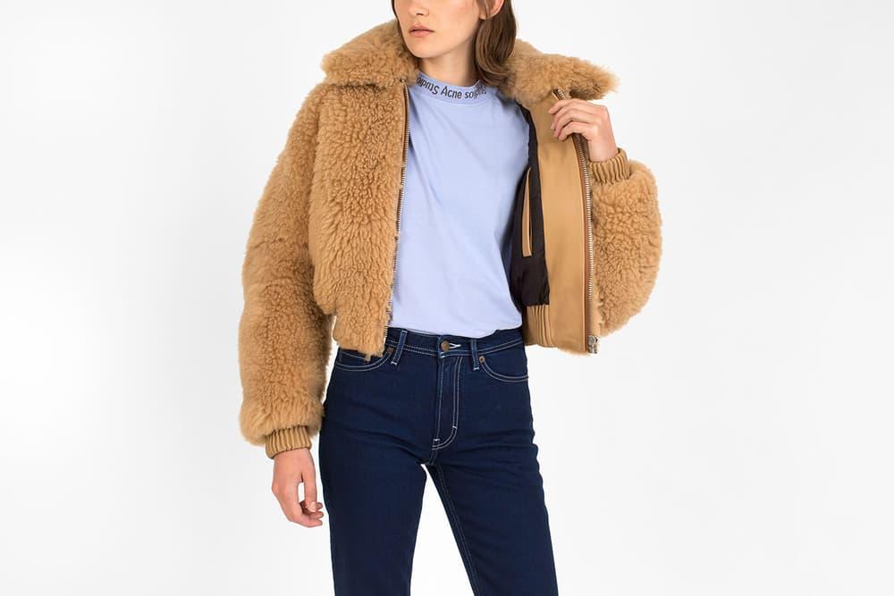 Acne Studios Linne Jacket Camel Fur Shealing Cozy Cuddly Voo Store Berlin