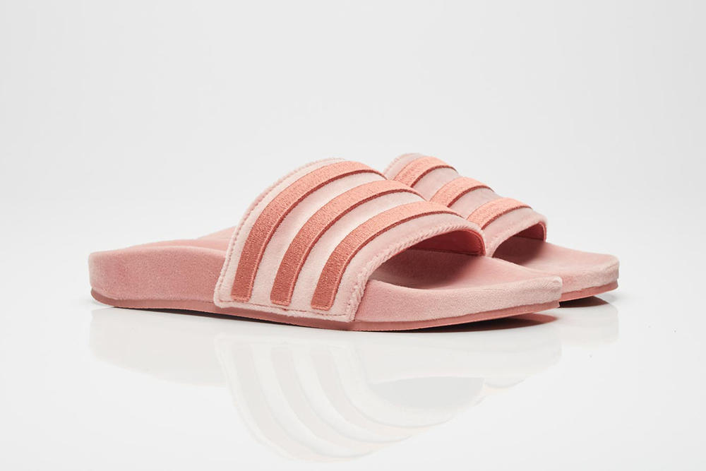 super popular 465ef 9c4c2 adidas Originals Adilette Slide Raw Pink Where to Buy Velvet 2017 Fall  Sneakersnstuff Pastel Millennial Light