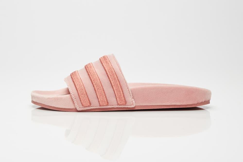 adidas Originals Adilette Slide Raw Pink Where to Buy Velvet 2017 Fall Sneakersnstuff Pastel Millennial Light