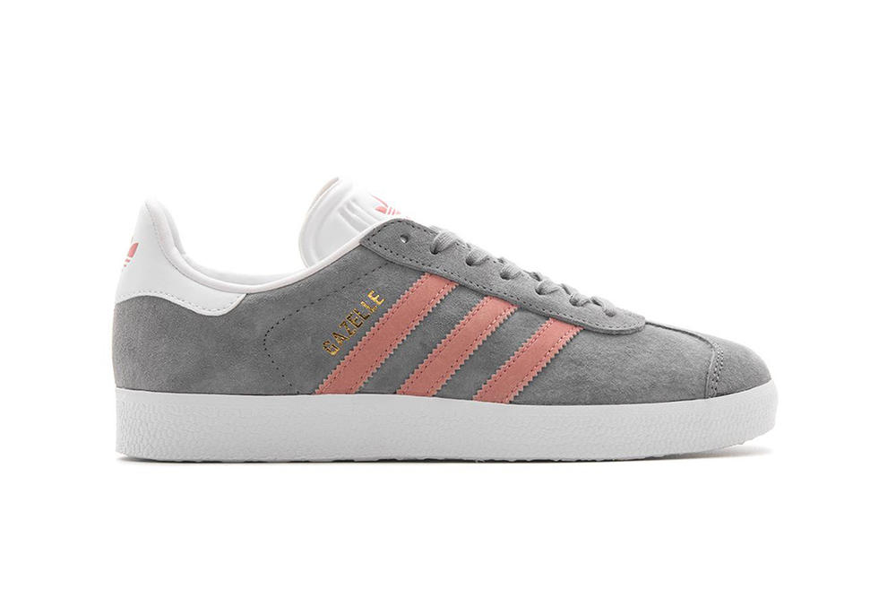 adidas Originals Gazelle Grey Three Raw Pink Pastel Suede