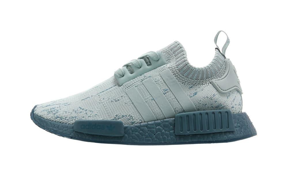 adidas Originals NMD R1 Tactile Green Blue Primeknit Three Stripe Sneaker Women Exclusive