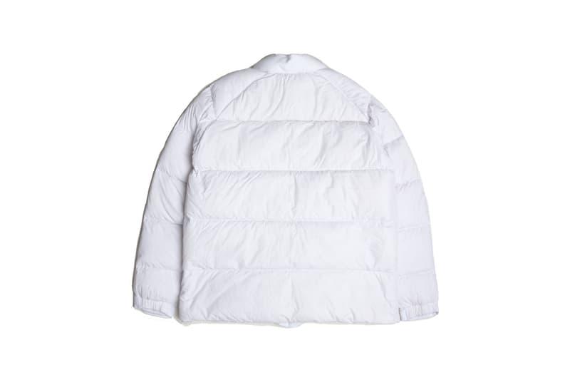 adidas Originals' Superstar White Down Jacket Fall Winter Warm Fleece