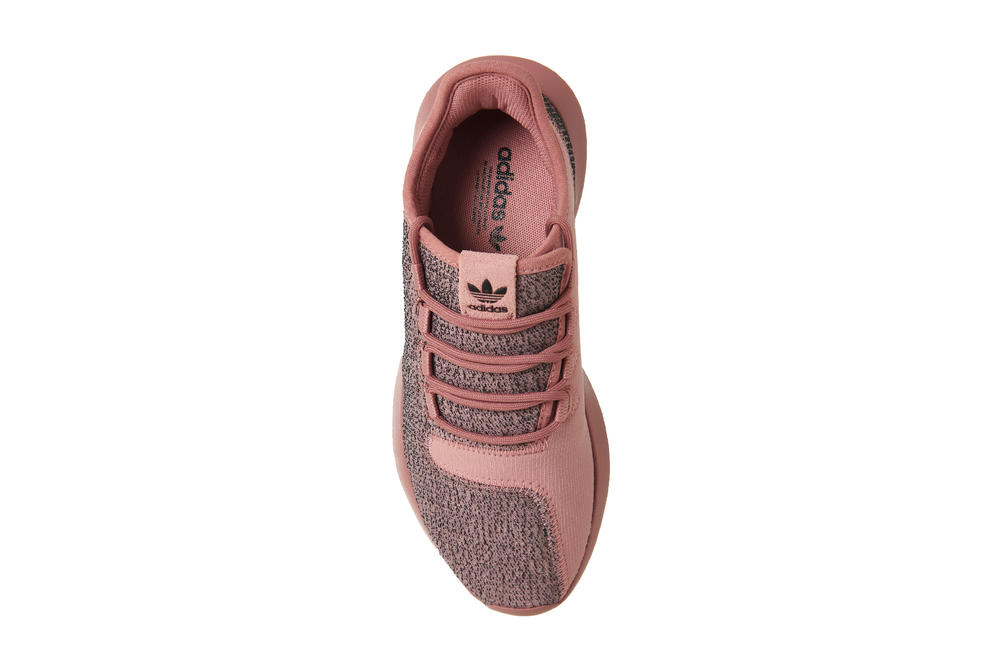 adidas Originals Tubular Shadow Raw Pink Pastel Brown Mesh Melange Knit Rubber Rose Sole Sneakers Footwear