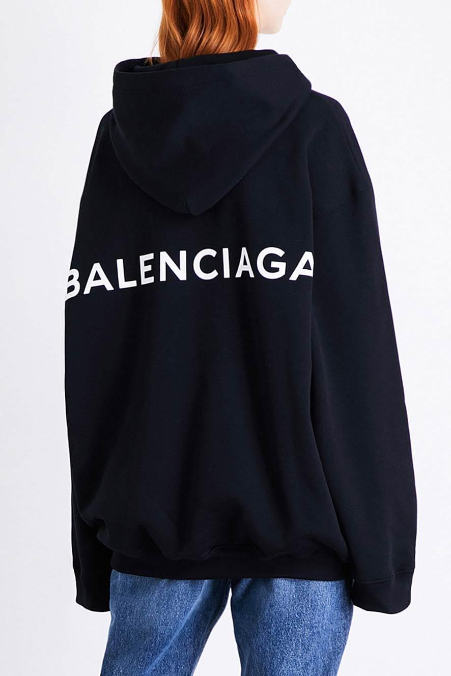 balenciaga logo hoodie 2017