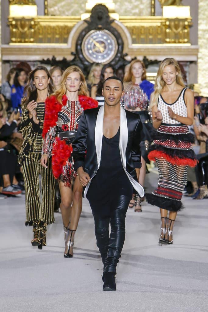 Balmain Spring Summer 2018 Runway Show PFW Paris Fashion Week Olivier Rousteing Jourdan Dunn Elsa Hosk Army